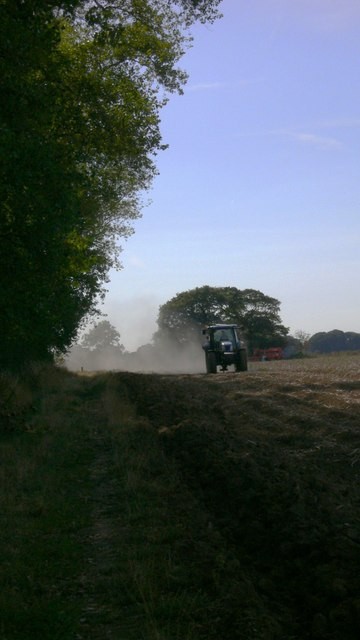 Tractor at work on Hayling Island
