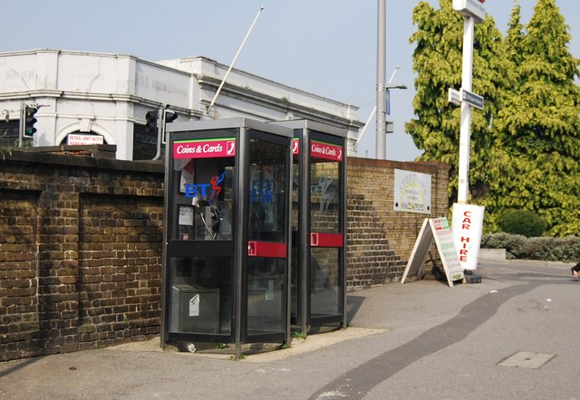 Telephone Boxes outside Maidstone West Station