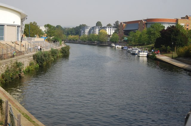 The River Medway in the centre of Maidstone
