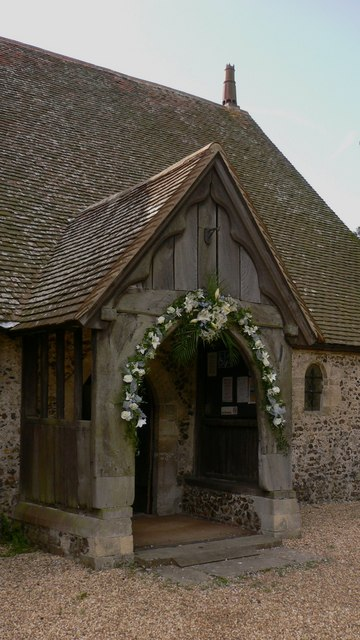 Church porch at North Hayling