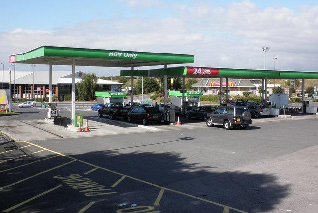 Petrol filling station,  at Asda, Cribbs Causeway