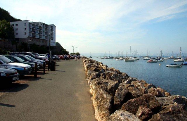 Car Park on the seafront in Brixham