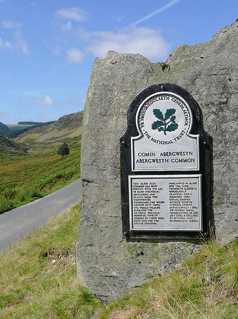 Plaque in Cwm Irfon, Powys