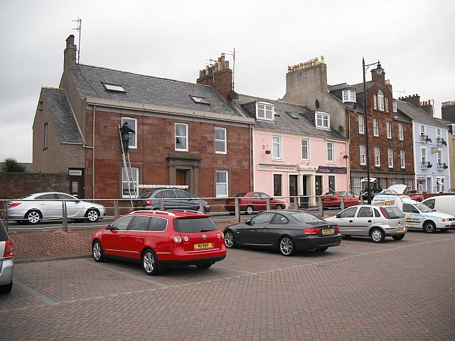 Houses and shops, Arbroath harbour