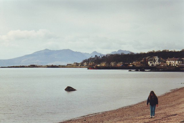 The pier head and beach at Millport, Cumbrae