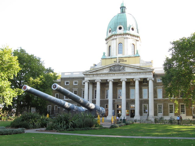 Standing guard at the Imperial War Museum