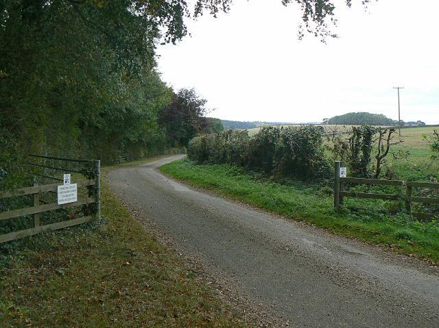 The lane to Checkers Farm