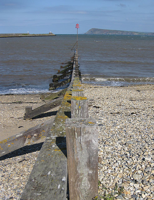 View from the beach at Wdig/Goodwick