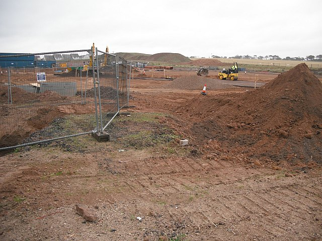 Building site, Cliffburn Road