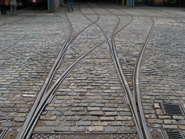 Tram Tracks and Cobble Stones