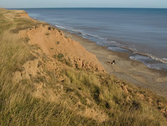 Tunstall cliffs and beach