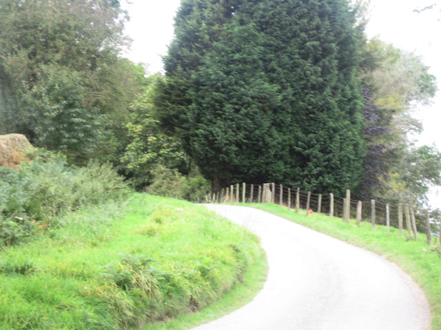 Lane south of Cefn Du Uchaf
