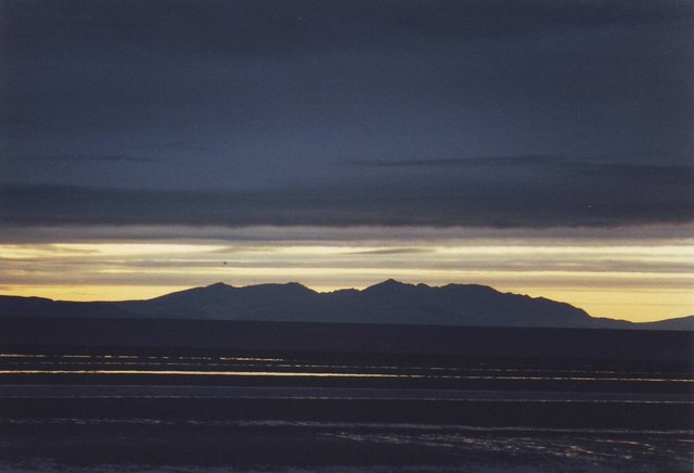 Sunset on Arran in early Spring.