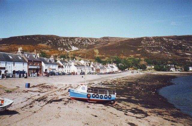 Seafront houses at Ullapool