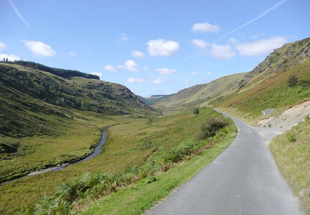 The road to Tregaron in Cwm Irfon, Powys