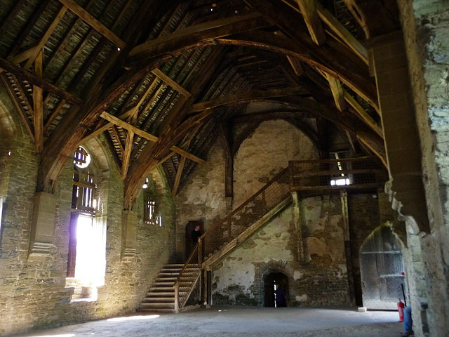 Stokesay Castle, the great hall