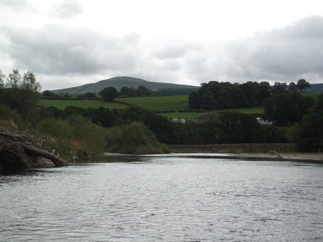 River Wye near Glasbury, looking downstream towards Twmpa