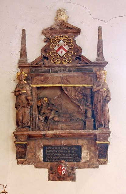 St Pancras (Old Church), London NW1 - Wall monument