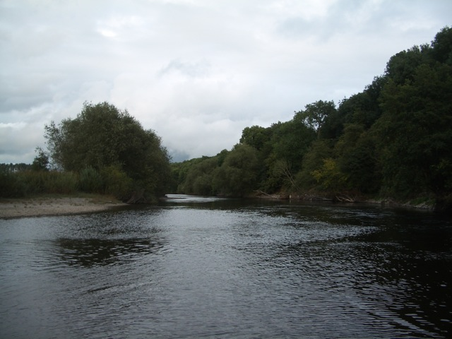 River Wye looking downstream from the tip of the small island