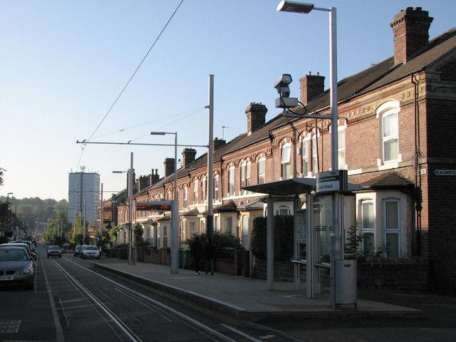 Noel Street: Beaconsfield Street tram stop