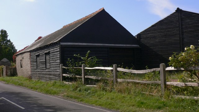 Barns on Copse Lane at Upper Tye Farm
