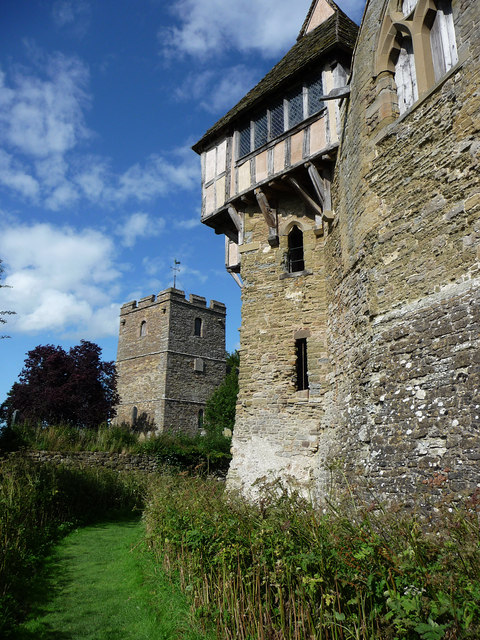 Stokesay Castle, the dry moat