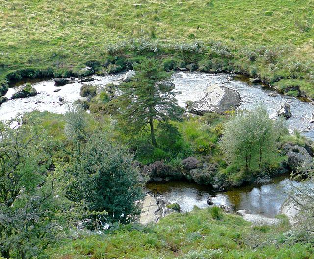 Afon Irfon north-west of Abergwesyn, Powys