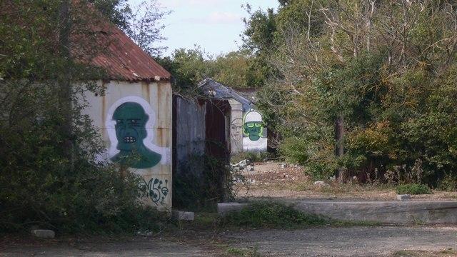 Graffiti on sheds