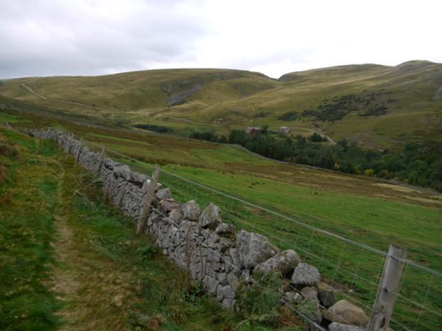 Wall east of Gleadscleugh