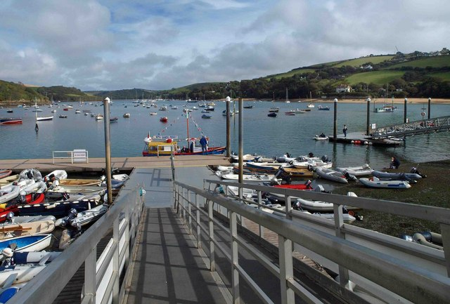 The ramp to the foot ferry at Salcombe