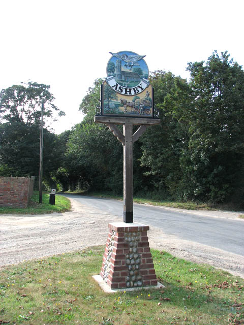 Ashby village sign