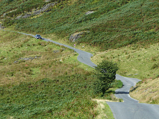 The road from Abergwesyn to Tregaron