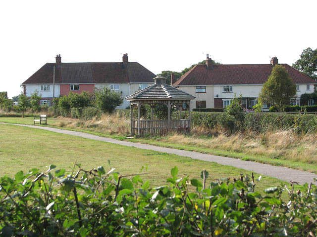 Cottages by the playing field