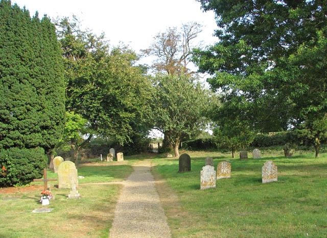 St John the Baptist's church - path through the churchyard