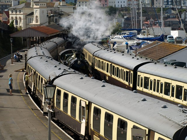 Manoeuvres at Kingswear station