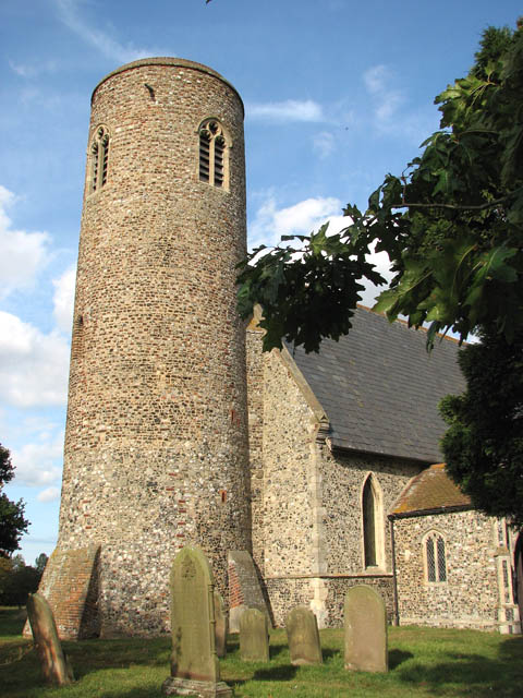 St John the Baptist's church - the buttressed tower