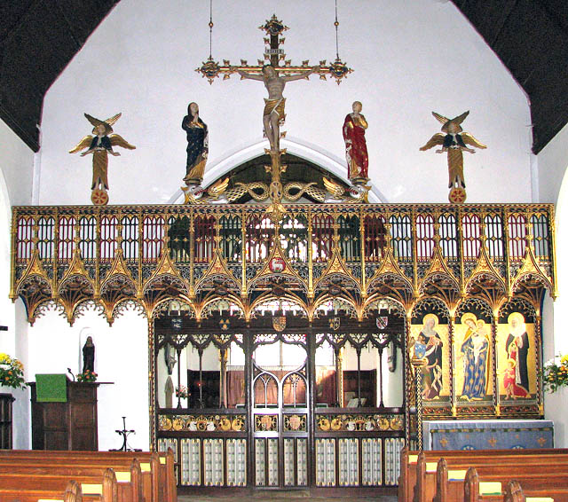 St John the Baptist's church - the rood screen