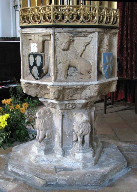 St John the Baptist's church - C14 baptismal font