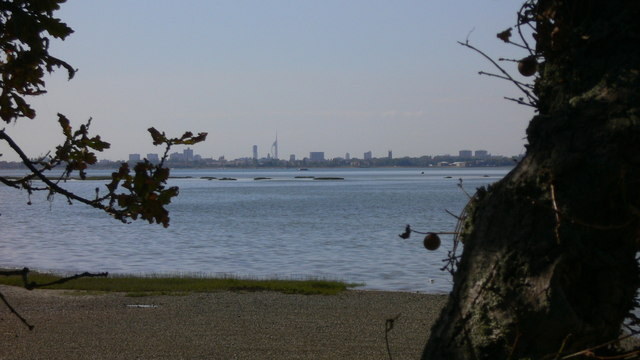 The foreshore of Langstone Harbour on Hayling Island