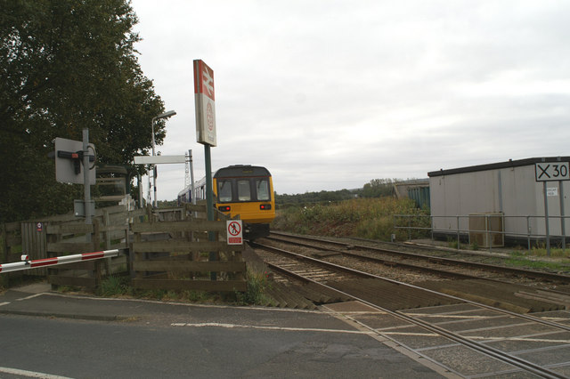 A Manchester (Victoria) train in Hoscar Station