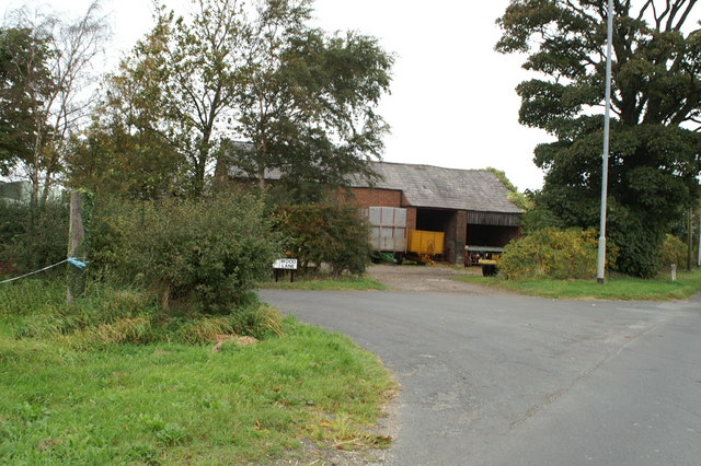 Entrance to Tyrers Farm at the junction of Wood Lane and Wane Blades Road