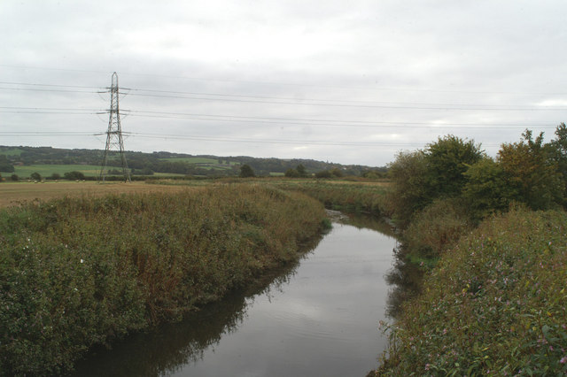 Looking upstream on the River Douglas from Wane Blades Bridge