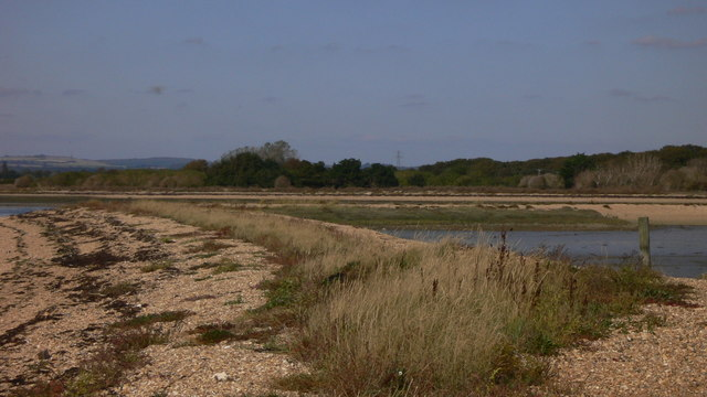 Spit of land projecting into Langstone Harbour