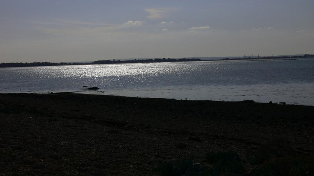 Light on water in Langstone Harbour
