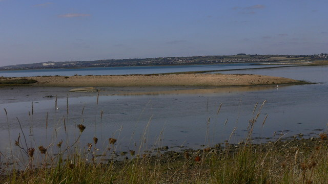 Spit of land in Langstone Harbour