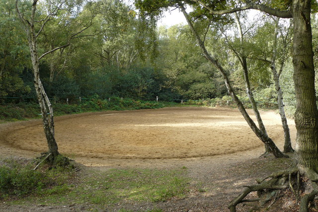 Horse Exercise Ring on Wimbledon Common
