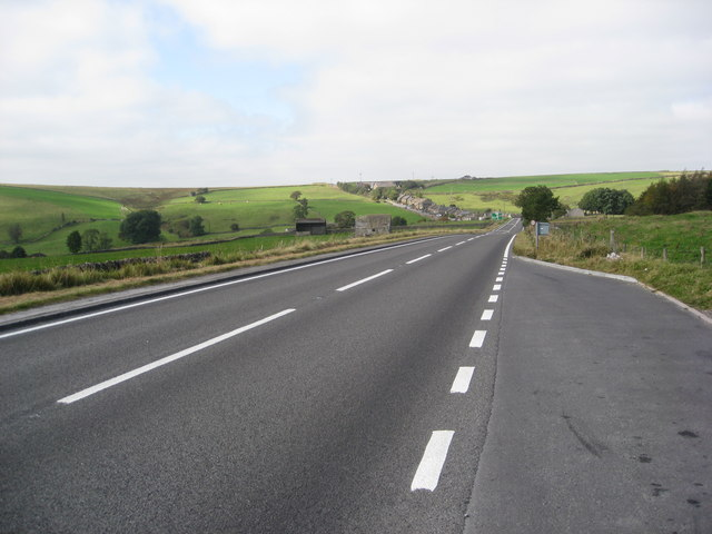 A623 approaching Sparrowpit