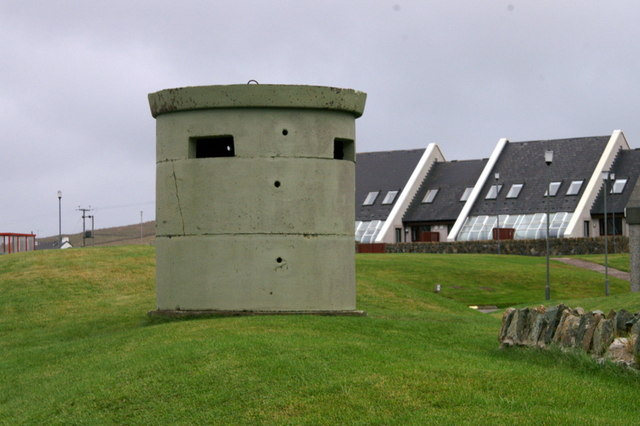 Pillbox at the former RAF Saxa Vord