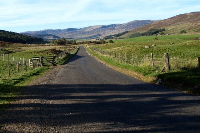 View northwards into Glen Clova