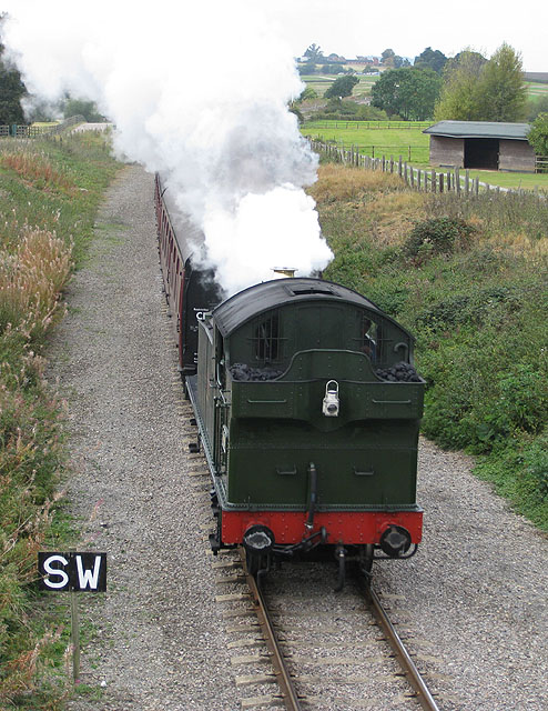 Steam loco approaching